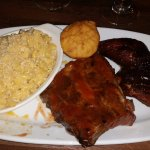 combo platter chicken and ribs