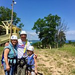 Traverse Bay in the background