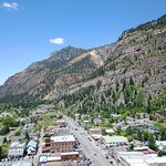 Drone shot of downtown Ouray