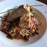 Seared Ahi Tuna - A bit overcooked.
