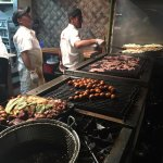 Grilled meats for family platter