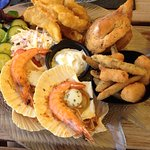 Mixed seafood platter for two - delicious!