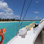 Bateau Solana en visite aux iles de Tintamarre et Anguilla, l'eau est superbe et le bateau bien
