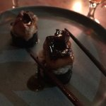 foie gras with chocolate (very rich)