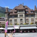 Hotel Falken built 1895 faces the Jungfrau and Eiger seen if the photographer spun around.