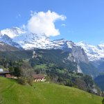 Gazing up at the Jungfrau and Eiger and along the valley to Murren