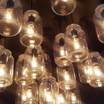 Their light fixtures. I have to try this at home.