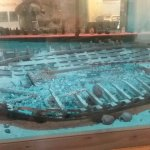 Model of shipwreck near Bermuda
