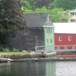 historic buildings along the harbor
