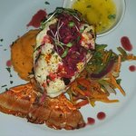 Lobster special with dragonfruit sauce