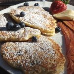 The oatmeal blueberry pancakes were awesome!