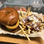 Our famous Bigfoot Burger with Chili Cheese Fries
