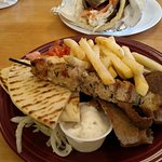 Combination dinner and a Gyro