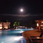 Moon light by the pool