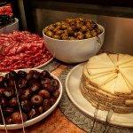 prosciutto, marinated mushrooms, figs, cheese