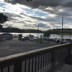 Photo from the outdoor patio, overlooking the River Air float-plane base.