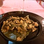 Delicious maltagliati with pistaschio pesto - to die for!