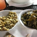 Best ever lima beans and collard greens