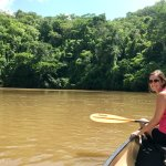 Canoeing the Macal river into San Ignacio.