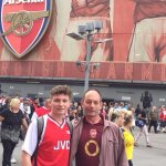 Dad and Son enjoying The Arsenal
