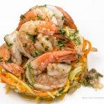 Pan roasted Karuma Shrimp, Julienne Vegetables, Chardonnay Herb Sauce @ Philip Marie Restaurant