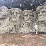 "The Mount Rushmore replica. See what I mean by ""meager"" landscaping?"