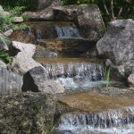 Japanese Garden Waterfall.