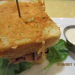 Roast beef & havarti sandwich with tasty spread for it (A hint of horse-radish)