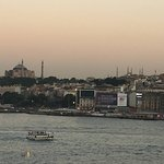 Looking across the Golden Horn from the rooftop bar.