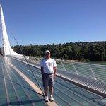 Me standing on Sundial Bridge