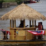 Floating tiki bar...new this year on Buffalo's waterfront