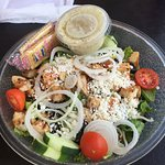 My favorite! Greek Salad with grilled chicken