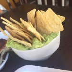 Delicious guacamole and chips