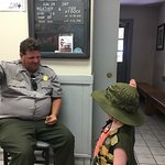 Our Junior Ranger getting sworn in!