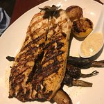 Wood-grilled boneless rainbow trout