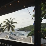 View of Cruz bay from the bar...