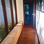 Hallway between bedroom and bathroom/closet