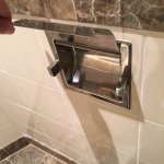 No toilet paper holder