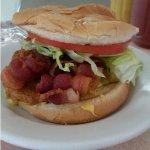 Bacon cheese burger.