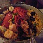 Seafood Paella w/ Lobster (minus sausage)