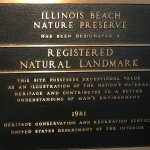 Plaque inside Nature Center (which is now open after 10 years closed)