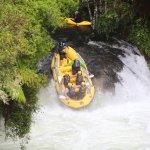 Down we go!! Kaituna River 23' drop.