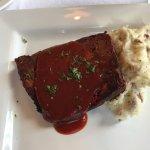 Buffalo Meatloaf and mashed Yukon Gold potatoes