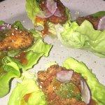 sesame fried oyster lettuce wraps