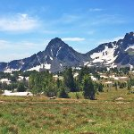 Mountain top views & snow in July!