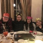 Even our 4 Teens Wear the British Paper Hats ~ Fun!!!!