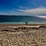 This is the best beach ever if you have kids who love snorkelling. There are rocks to climb too,