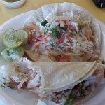 Shrimp Tacos are bueno...