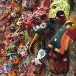 A huge selection of wooden masks!