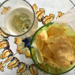 Complimentary aperitivo - prosecco and chips!